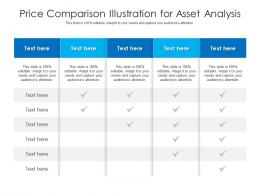 Price Comparison Illustration For Asset Analysis Infographic Template