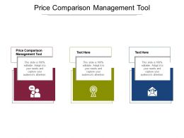 Price Comparison Management Tool Ppt Powerpoint Presentation Summary File Formats Cpb