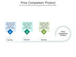 Price Comparison Product Ppt Powerpoint Presentation Ideas Example Introduction Cpb