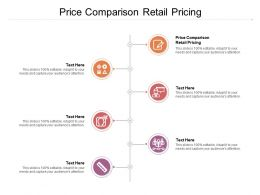 Price Comparison Retail Pricing Ppt Powerpoint Presentation Infographics Portfolio Cpb