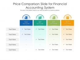 Price Comparison Slide For Financial Accounting System Infographic Template