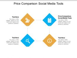 Price Comparison Social Media Tools Ppt Powerpoint Presentation Professional Outfit Cpb