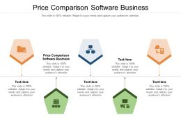 Price Comparison Software Business Ppt Presentation Styles Structure Cpb