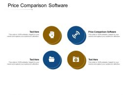 Price Comparison Software Ppt Powerpoint Presentation Portfolio Deck Cpb