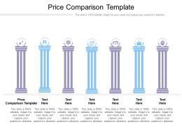 Price Comparison Template Ppt Powerpoint Presentation Summary Designs Download Cpb