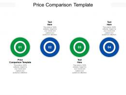 Price Comparison Template Ppt Powerpoint Presentation Summary Information Cpb