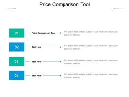 Price Comparison Tool Ppt Powerpoint Presentation Slides Display Cpb