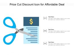 Price Cut Discount Icon For Affordable Deal