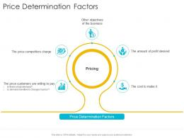 Price Determination Factors Startup Company Strategy Ppt Powerpoint Model Good