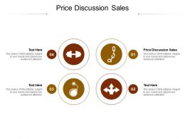 Price Discussion Sales Ppt Powerpoint Presentation Styles Show Cpb