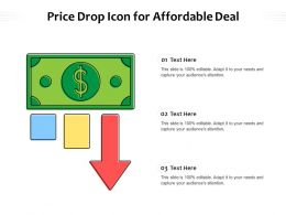 Price Drop Icon For Affordable Deal
