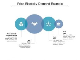 Price Elasticity Demand Example Ppt Powerpoint Presentation Infographic Template Format Cpb