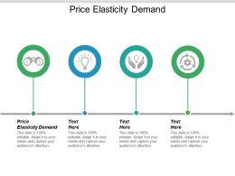 Price Elasticity Demand Ppt Powerpoint Presentation Portfolio Slide Cpb