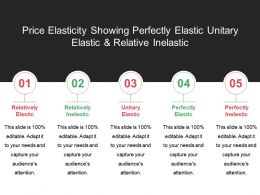 Price Elasticity Showing Perfectly Elastic Unitary Elastic And Relative Inelastic