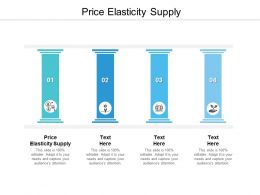 Price Elasticity Supply Ppt Powerpoint Presentation Outline Example Topics Cpb