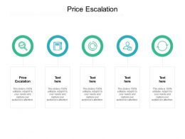 Price Escalation Ppt Powerpoint Presentation Styles Format Cpb