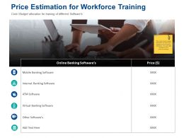 Price Estimation For Workforce Training Banking Software Ppt Powerpoint Presentation Tips