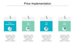 Price Implementation Ppt Powerpoint Presentation Gallery Microsoft Cpb