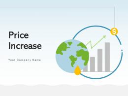 Price Increase Illustrating Arrow Product Dollar Inflation Increase