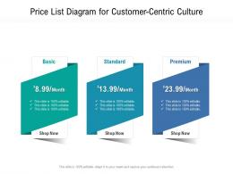 Price List Diagram For Customer Centric Culture Infographic Template