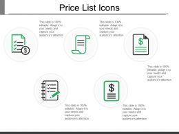 Price List Icons