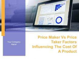 Price Maker Vs Price Taker Factors Influencing The Cost Of A Product Powerpoint Presentation Slides