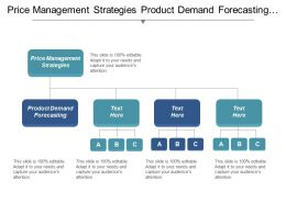 Price Management Strategies Product Demand Forecasting Strategic Management Cpb