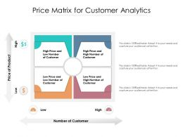 Price Matrix For Customer Analytics
