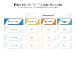 Price Matrix For Product Variants