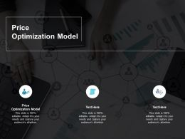 Price Optimization Model Ppt Powerpoint Presentation Layouts Model Cpb