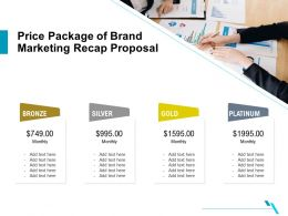 Price Package Of Brand Marketing Recap Proposal Ppt Example File