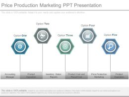 Price Production Marketing Ppt Presentation