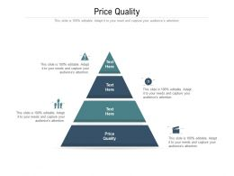 Price Quality Ppt Powerpoint Presentation Inspiration Example File Cpb