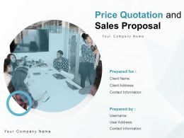 Price Quotation And Sales Proposal Powerpoint Presentation Slides