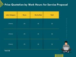 Price Quotation By Work Hours For Service Proposal Ppt Templates