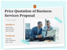 Price Quotation Of Business Services Proposal Powerpoint Presentation Slides