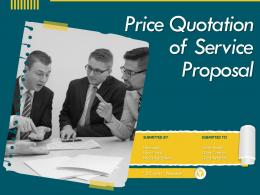 Price Quotation Of Service Proposal Powerpoint Presentation Slides