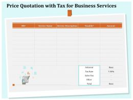 Price Quotation With Tax For Business Services Ppt File Example Introduction