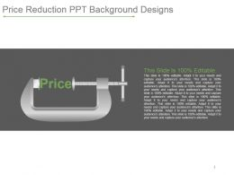 Price Reduction Ppt Background Designs