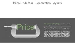 Price Reduction Presentation Layouts