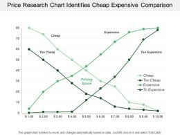 Price Research Chart Identifies Cheap Expensive Comparison