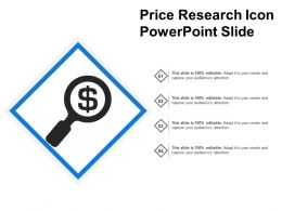 Price Research Icon Powerpoint Slide