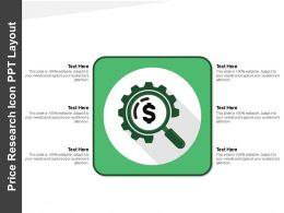 Price Research Icon Ppt Layout