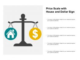 Price Scale With House And Dollar Sign