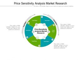Price Sensitivity Analysis Market Research Ppt Powerpoint Presentation Outline Cpb