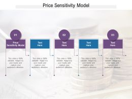 Price Sensitivity Model Ppt Powerpoint Presentation Pictures Structure Cpb