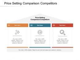 Price Setting Comparison Competitors Ppt Powerpoint Presentation Gallery Pictures Cpb