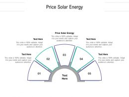 Price Solar Energy Ppt Powerpoint Presentation Professional Diagrams Cpb