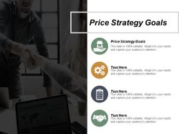 Price Strategy Goals Ppt Powerpoint Presentation Professional Inspiration Cpb