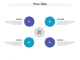 Price Table Ppt Powerpoint Presentation Diagram Templates Cpb